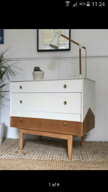 Upcycled retro chest of drawers