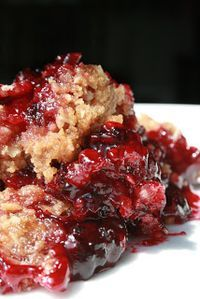Blackberry Crumble.....    This is an easy crumble recipe that you will make over and over again... so easy that a two year old can do it.