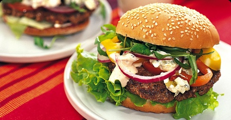 Home-made burgers are the BEST!
