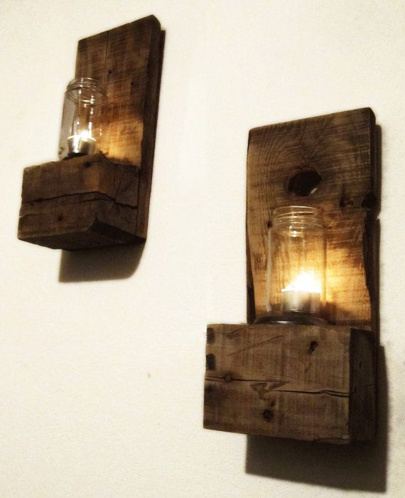 Pair of Reclaimed Votive Candle Wall Sconces by DerelictDesign