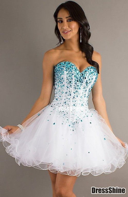 Empire Sweetheart Tulle and Beading Homecoming Dress - HomeComing Dresses - Special Occasion Dresses