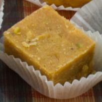 Channa Doss - Goan sweet barfi made with channa dal and coconut milk