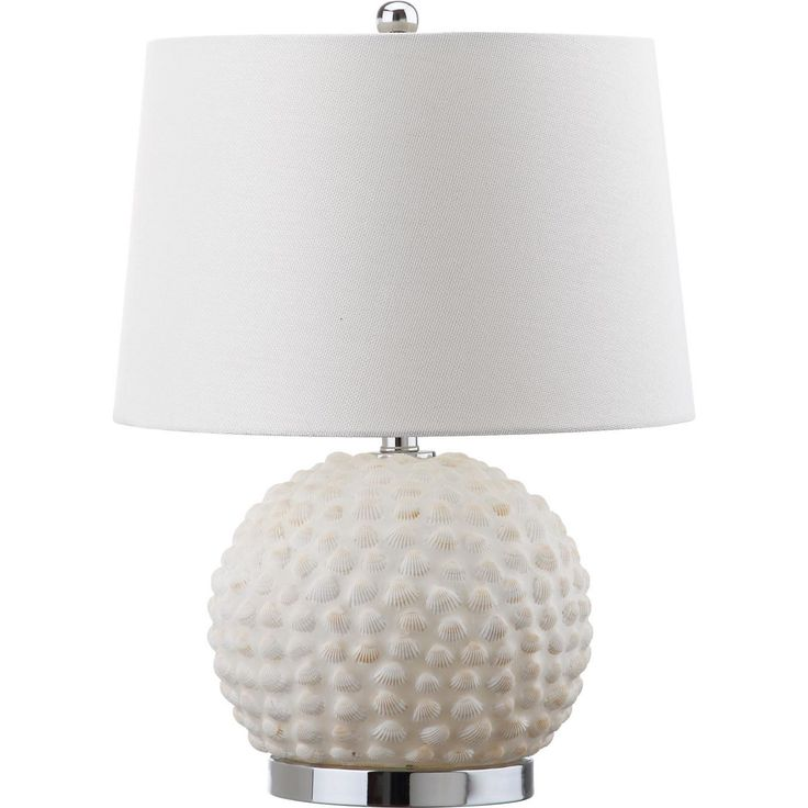 Coastal Meets Chic Contemporary In The Artisan Charm Of The Cream Toned  Forbes Table Lamp