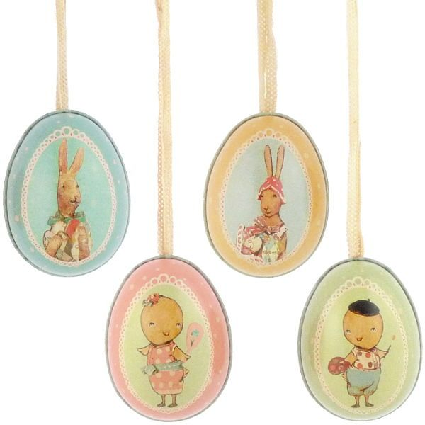 Maileg Small Tin Easter Eggs, $6