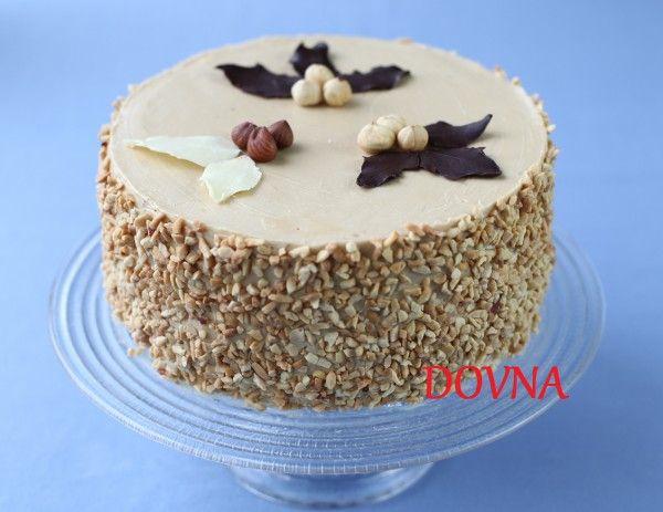 Домашний кофейно-ореховый торт