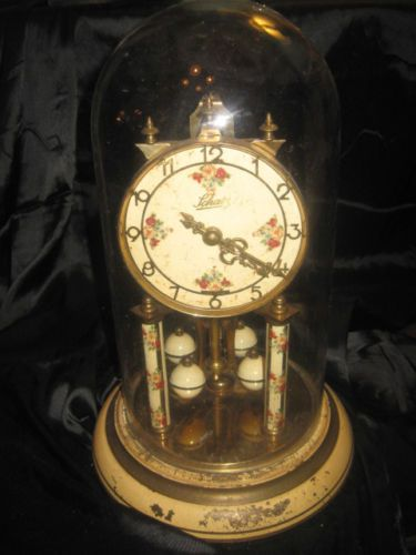 SCHATZ ALL ORIGINAL 400 DAY GERMAN ANNIVERSARY CLOCK, NEEDS RESTORED