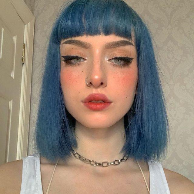 Eve Frsr Aesthetic Hair Short Blue Hair Dye My Hair