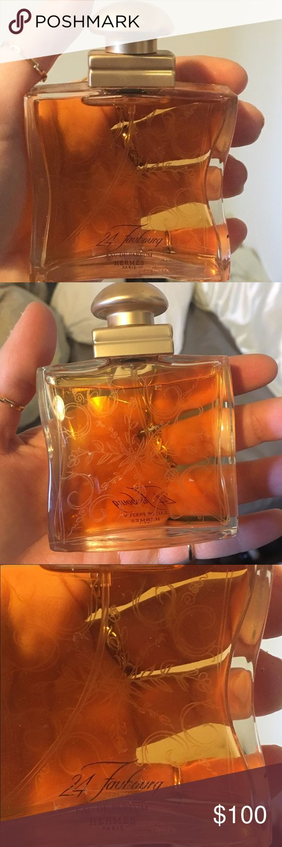 24 Faubourg Eau De Parfum Perfume by Hermes 1.6 OZ This perfume was gifted to me. It's completely full and maybe just sprayed once or twice so if this is your signature scent, here's an incredible deal 😝 Hermes Other