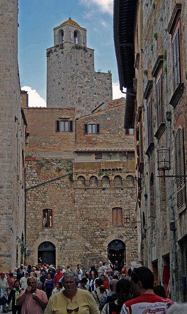 Torre Grossa  San  Giminiano  Italy, province of Siena Tuscany