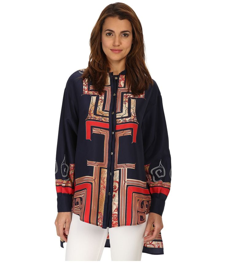 Camasi & Tricouri Femei Versace Collection Graphic Print Collared Blouse