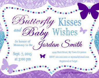 Butterfly Baby Shower Invitations Butterfly by GreatOwlCreations