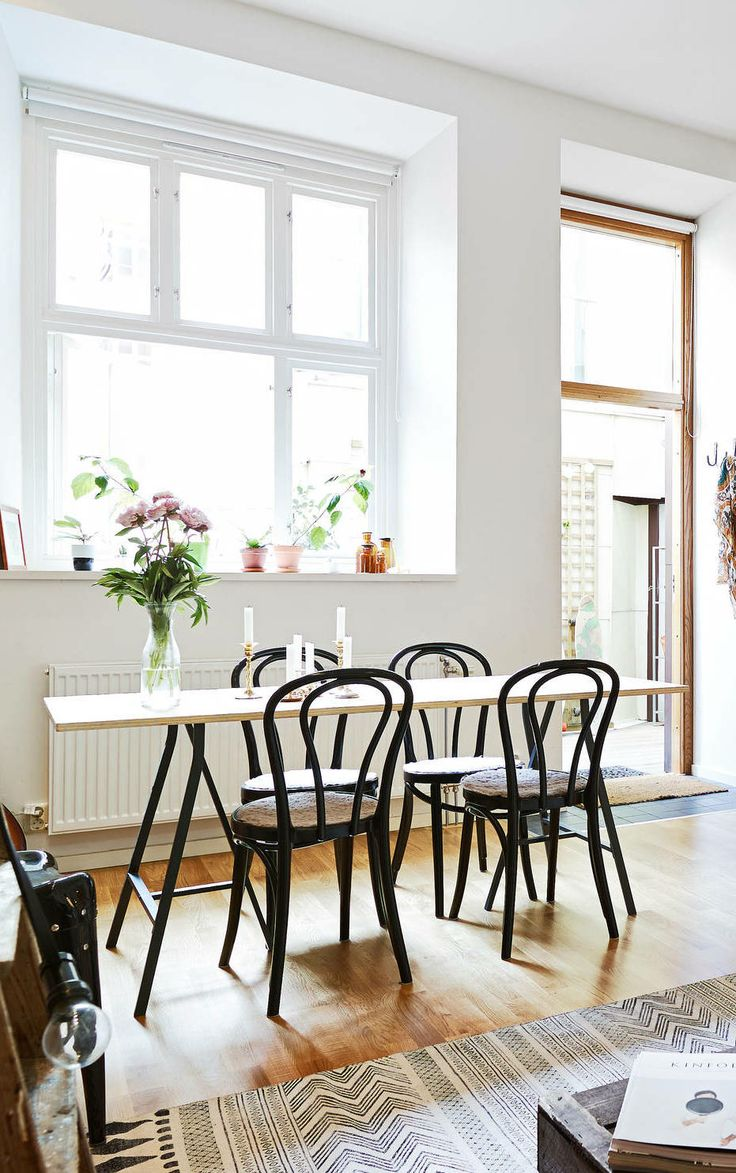 Bentwood Chairs Domino - Beautiful brick wall via cocolapinedesign com bentwood chairskitchen