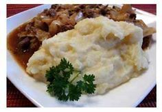 """Himmel und Erde -- what an interesting name! Means """"Heaven and Earth"""" and it's made by combining mashed apples (from Heaven) and mashed potatoes (from earth). DELICIOUS and SO German! http://www.quick-german-recipes.com/himmel-und-erde.html"""