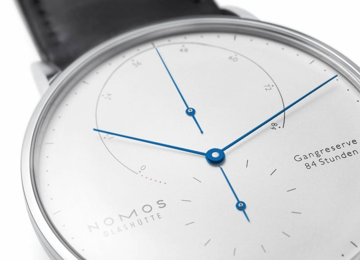 18 kt white gold, finely drawn dial, exceptional precision—the Lambda Weißgold model with tempered blue hands is unusually fine, and strikingly beautiful.