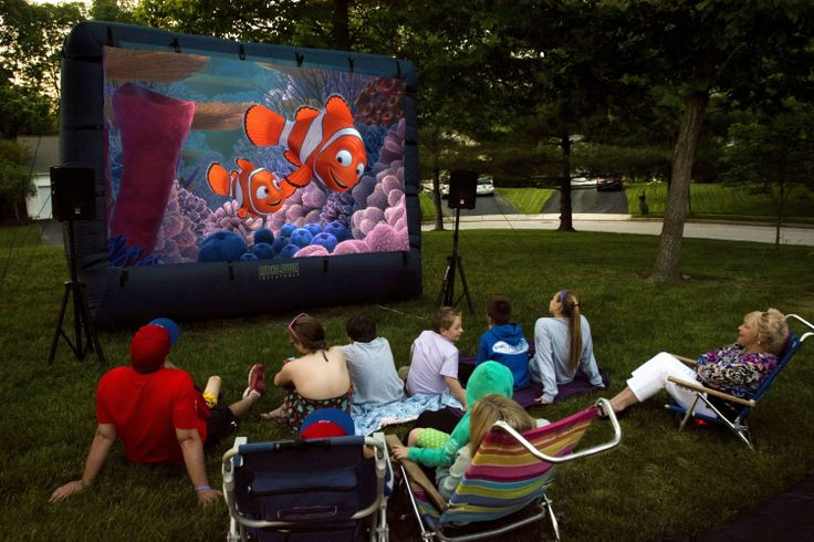 Backyard Inflatable Movie Screen Rentals - http://www.KIDflatables.com
