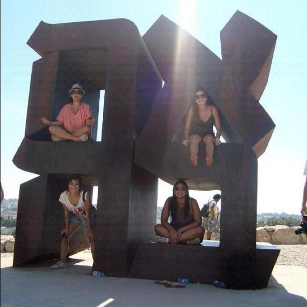 Ahava (love) Statue in Israel