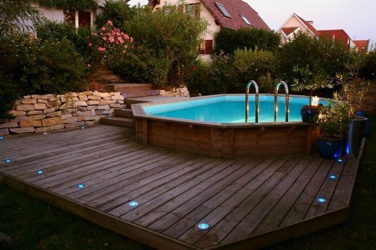 above ground pool that looks like in ground - Google Search
