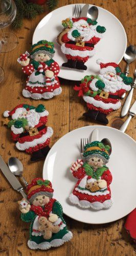 "Bucilla Santa & Mrs. Silverware Holders Felt Applique Kit-5""X7"" Set Of 6 Bucilla http://www.amazon.com/dp/B005SZINPQ/ref=cm_sw_r_pi_dp_q9Pkub11P3MGK"