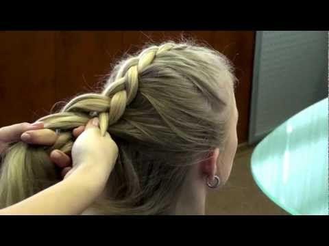 КОСЫ ( серия 1) Коса обратная, вытянутая. Видео-урок. - YouTube