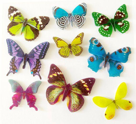 Butterflies Vellum Stickers DIY Projects Decor by MonquiShop