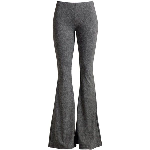 Fashionomics Womens Boho Comfy Stretchy Bell Bottom Flare Pants ($20) ❤ liked on Polyvore featuring pants, flare pants, bohemian pants, boho bell bottom pants, flared pants and flare trousers