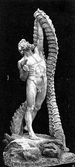 Thor lifting Utgard-Loki's Cat by ~Niels Hansen Jacobsen(1891) #asatru #loki #cats