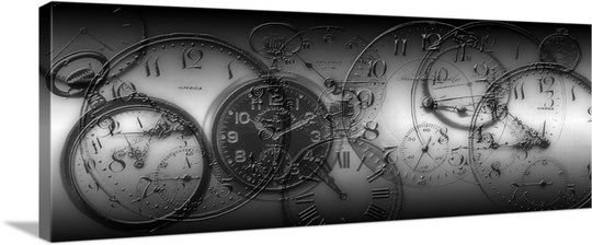 Montage of old pocket watches