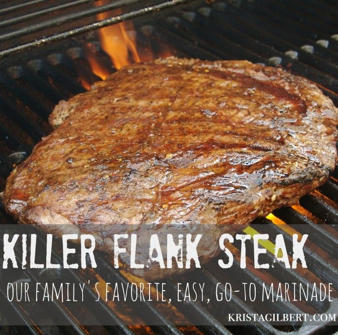 My favorite cookbook in the entire world is the Jr. League of Spokane's Gold n' Delicious. So many of my staple recipes come out of it, and this is one is one of the best. Killer flank steak.