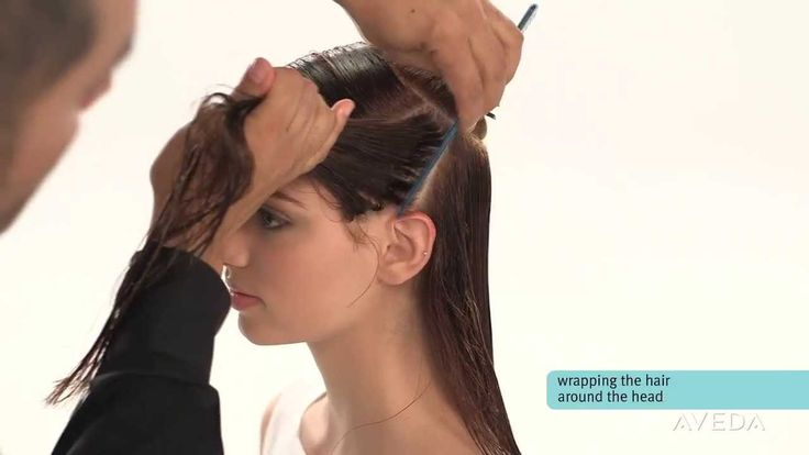 No heat! Aveda How-To: Smooth and Straighten Hair with a Wrap (My Chi straightener died today, so I'm praying this works!)