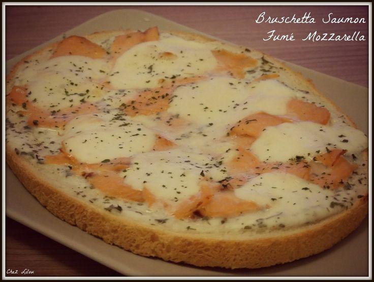 Bruschetta Saumon Fumé Mozzarella