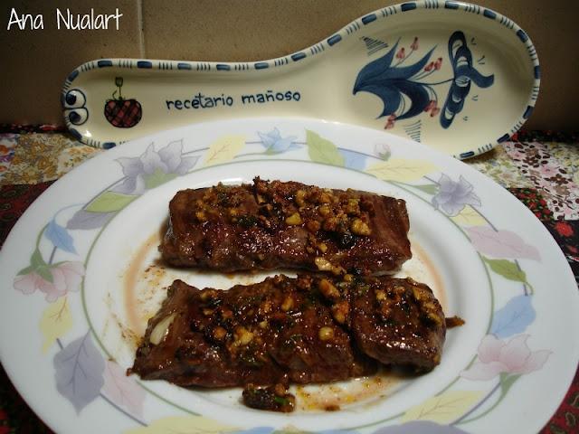 La cocinera de Bétulo: ENTRAÑA DE TERNERA A LA PLANCHA