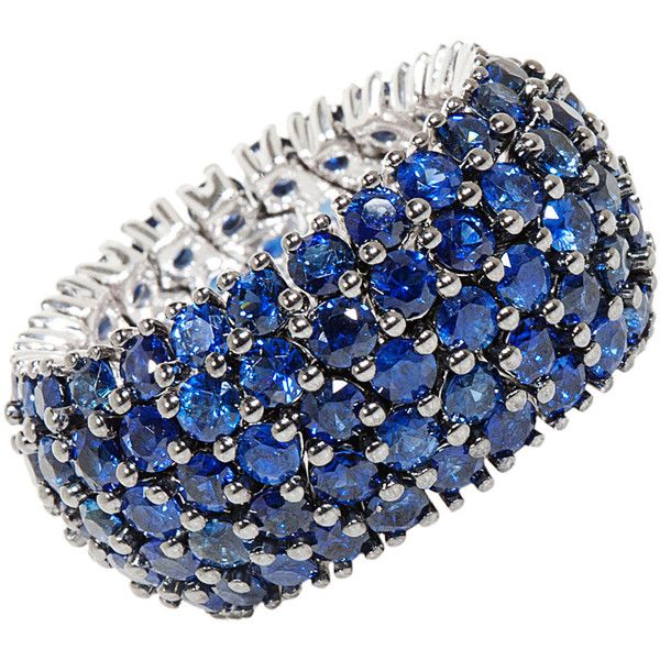 I am determined to buy a Sapphire eternity ring to wear as my wedding band! I got a push gift of Sapphire from my husband but my wedding/engagement rings are diamonds. (not complaining :) )