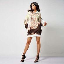 OEM Modern design printing urban street casual lady fleeve hoodie dress Best Buy follow this link http://shopingayo.space