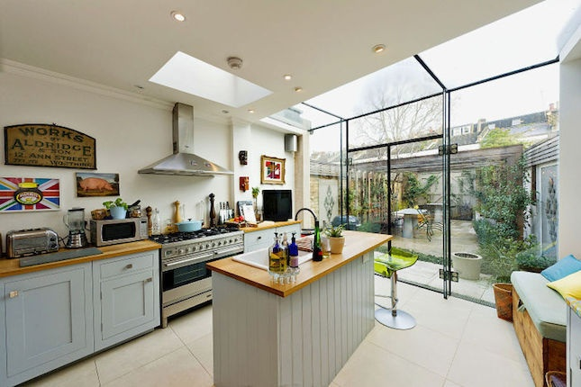 eating area and skylights kitchen idea longer kitchen design with