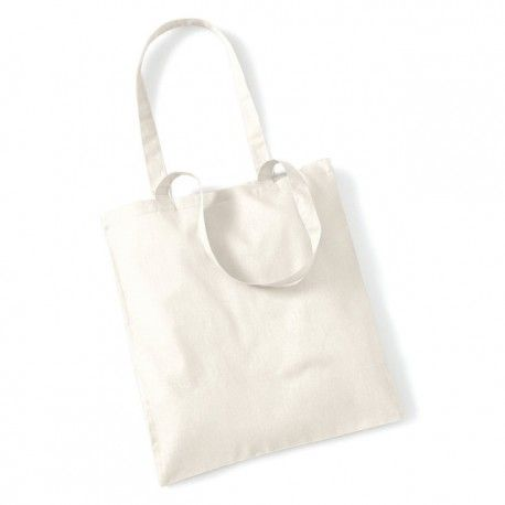 tote bag, sac shopping coton blanc ecru