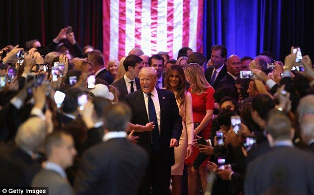 Ivanka (head turned, right) has played a very key role in her father's campaign, accompanying him on trails - despite being heavily pregnant - - and even making several videos encouraging states to come out and cast their vote