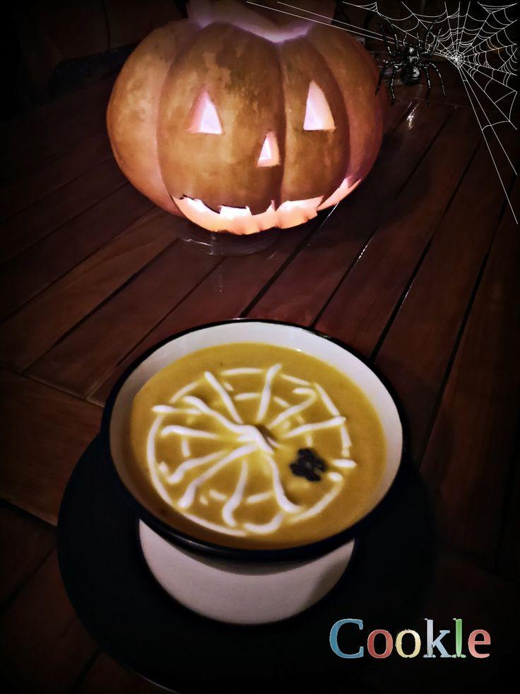 It is Halloween Week @Cookle. Κολοκυθόσουπα με τζίντζερ και ιστό από γιαούρτι   Cookle