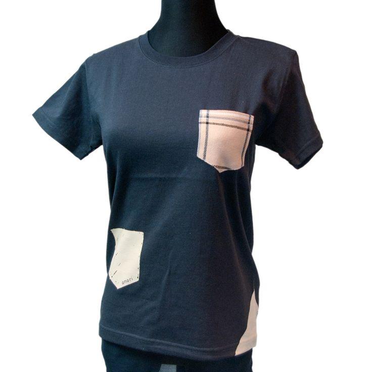 丈夫なソファ生地ポケット・Tシャツ XS | anori