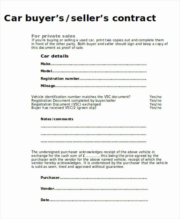 Vehicle Sales Agreement Template New Sample Car Sales Contract 12 Examples In Word Pdf Contract Template Sell Car For Sale Sign