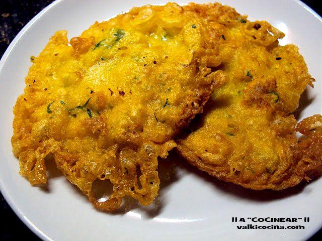 "¡¡A COCINEAR!! Recetas valkicocina.com: TORTILLITAS DE BACALAO CRUJIENTES ( Con  ""puntilli..."