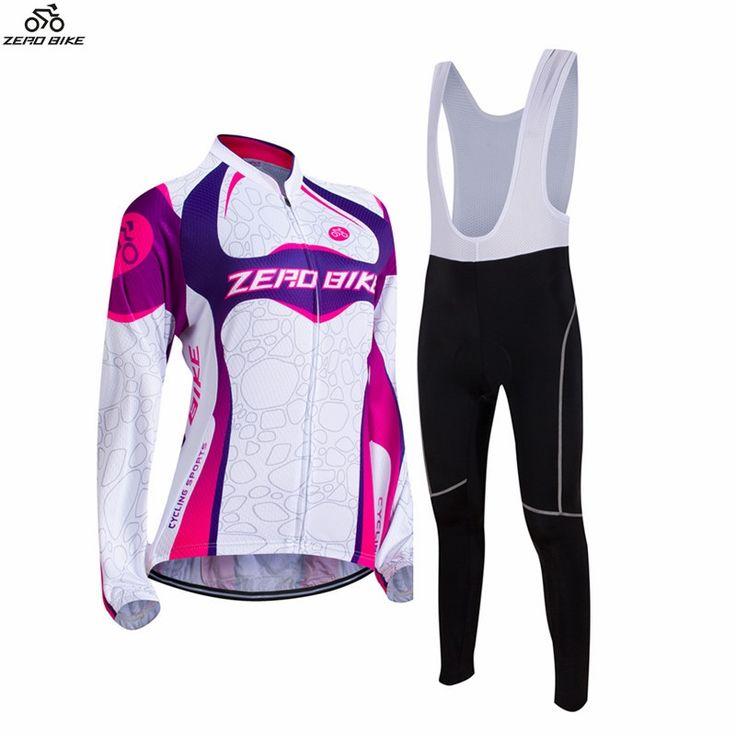 34.83$  Watch here - http://aliih2.shopchina.info/1/go.php?t=32791358836 - ZERO BIKE Spring Autumn Outdoor Sports Women's Long Sleeve Cycling Jersey and 3D Gel Padded Bib Pants Set XY01  #magazineonlinewebsite