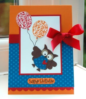 DIY Owl Birthday Cards....love them all