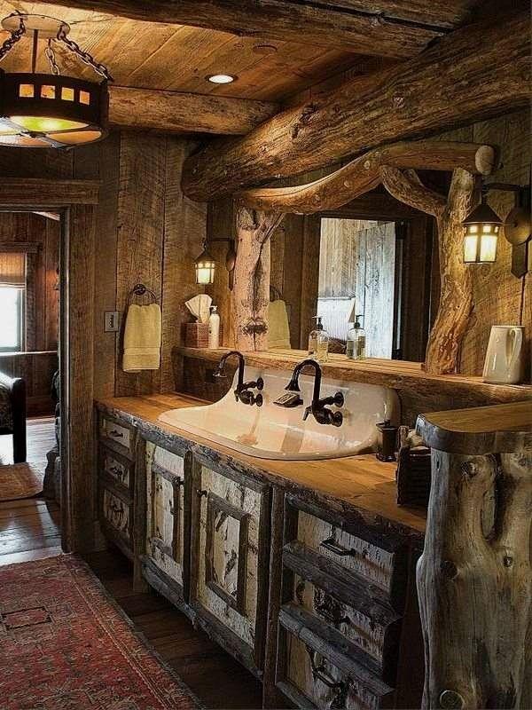 12 einfache rustikale Badezimmerideen, die Sie fü…