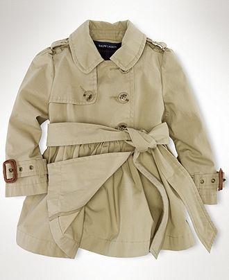 Ralph Lauren Baby Coat, Baby Girls Trench Coat - Kids Baby Girl (0-24 months) - Macy's