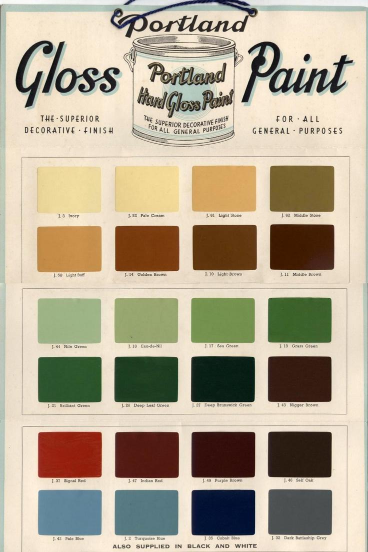 Leyland paints colour chart - Portland Paints British Paints Limited Of Newcastle London Paint Colour Chart Please Note