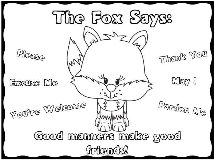 22 best good manners images on pinterest english for Manners coloring pages