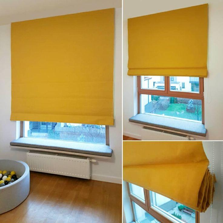 Realizacja #styleathomepl  Projekt wnętrza: www.finishome.pl, @FinishomeStudio    #roleta #roletarzymska #żółty #słoneczny #tkanina #tkaninydekoracyjne #dekoracje #dekoracjeokienne #aranżacja #szycienazamówienie #szycie #projekt  #okna #wnetrza #projektowanie #poduchanaokno #siedzisko #tapicerowanie #zagłowek #warszawa #blinds #romanblinds #interior #interiordesign #window #fabric #home #homedecor #villanovafabric