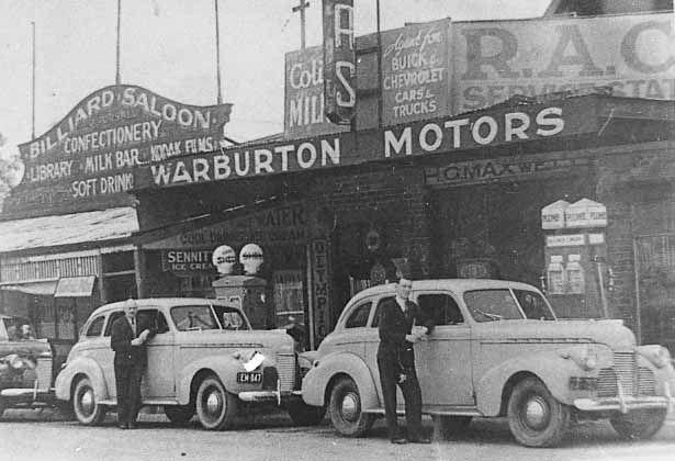 Main street Warburton Victoria.