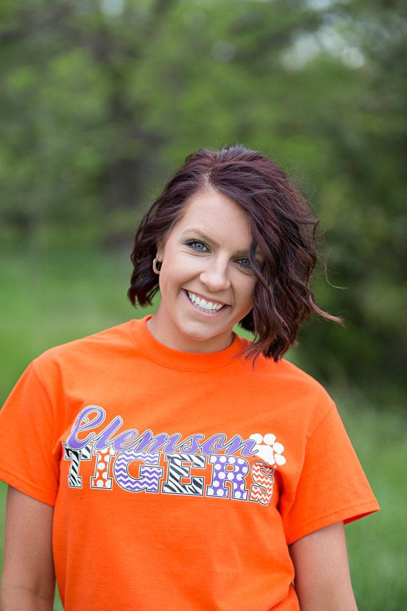 Clemson Tigers Orange T-Shirt by HoundstoothPolkaDots on Etsy