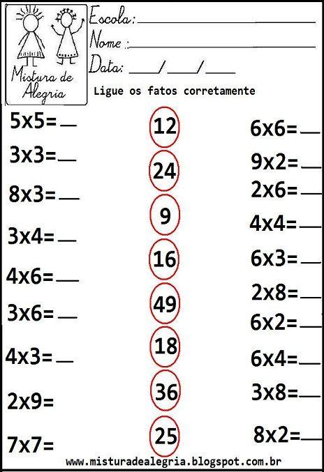 Atividades de matemática 3º ano                                                                                                                                                                                 Mais